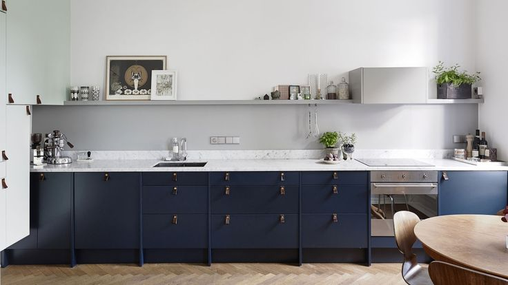 """Blue kitchen from """"Picky Living"""""""