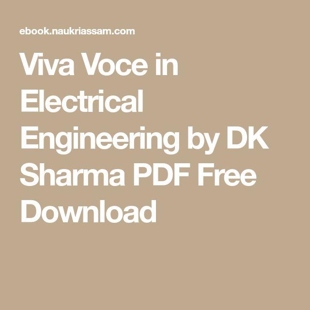 Viva Voce in Electrical Engineering by DK Sharma PDF Free Download