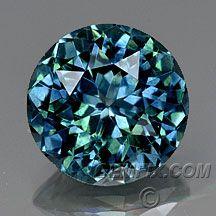 Blue green Montana sapphire