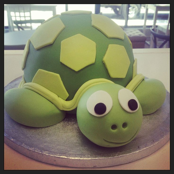 Cute turtle birthday cake.
