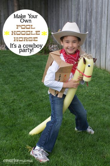 Make your own Pool Noodle Horses and delight the little cowboys/girls in your life!