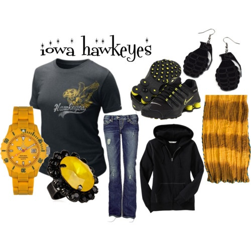 Iowa Hawkeyes Clothes, perfect for a game!