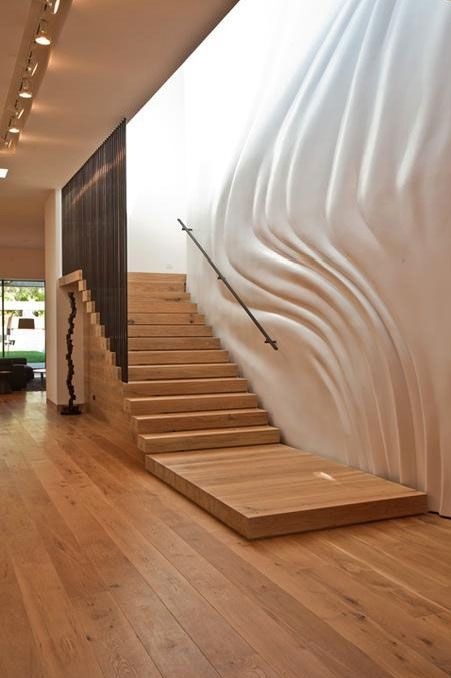 Lighting Basement Washroom Stairs: Create Interest In A Stairway By Using Wallpaper Or Incorporating Decorative Lighting To Create