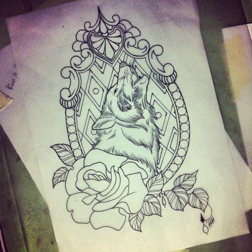 Wolf tattoo ideas...