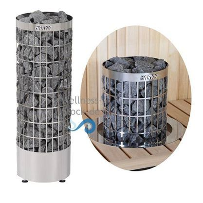 Harvia Saunaofen Cilindro von http://www.wellness-stock.de/Saunaofen-Cilindro kann auch in die Saunaliege / Saunabank eingebaut werden - Platzsparend und schick #sauna #saunaofen #cilindro #harvia #heater