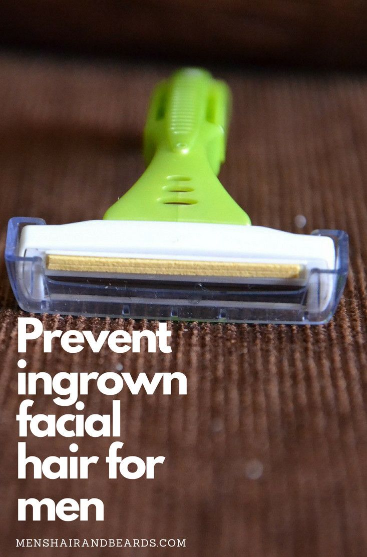 To prevent ingrown facial hair for men ditch the multi bladed razors. Find out why here!