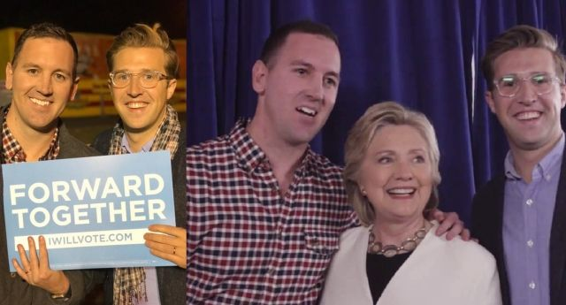 This gay couple got engaged at a Hillary Clinton rally, so she helped them celebrate