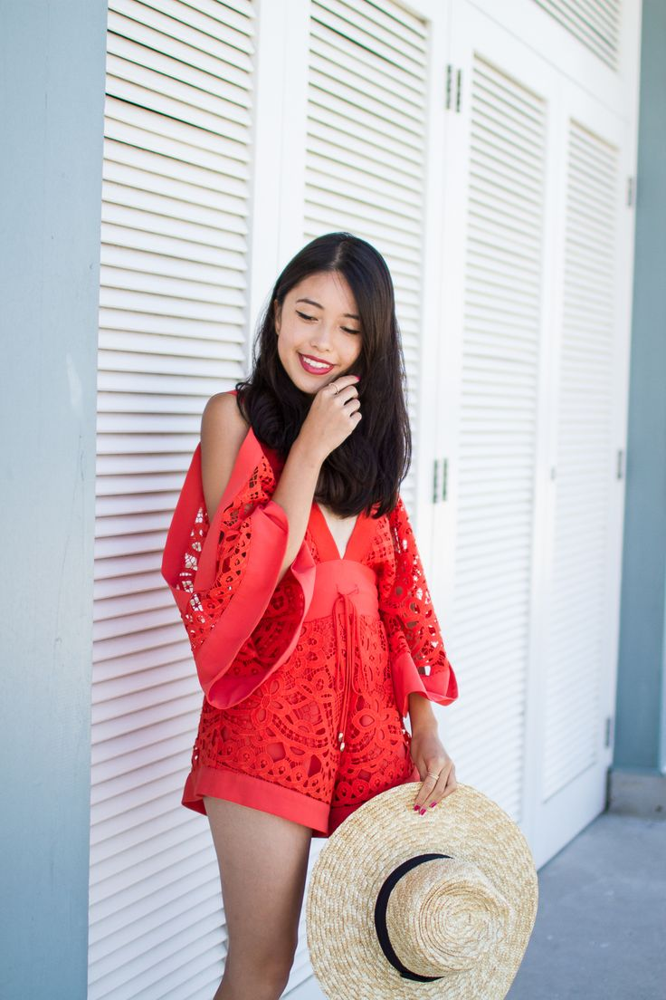 OUTFIT POST: In love with this Alice McCall red playsuit.     See more on: http://www.kisforkani.com/2015/12/keep-me-there/