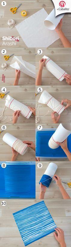 Shibori, una de las muchas técnicas de el Caballito para revivir tus prendas. Solo sigue estos fáciles pasos.