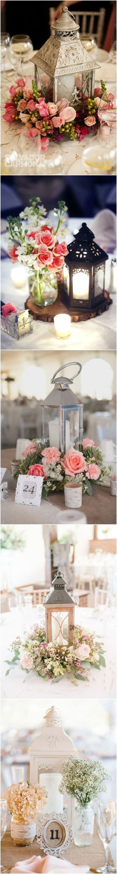 rustic latern wedding centerpieces / http://www.deerpearlflowers.com/wedding-centerpiece-ideas/ #rusticbeddingideas