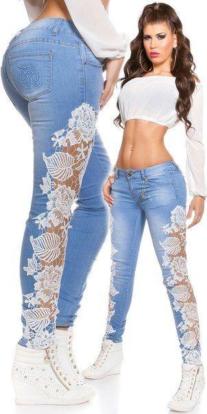другие кружева и широкая резинка в пояс для узких джинс
