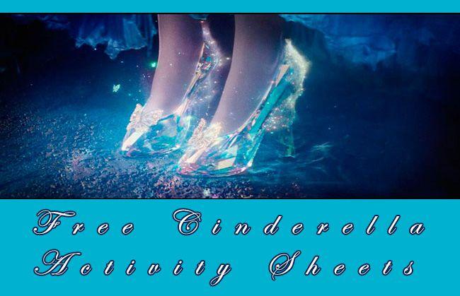 Free printable Cinderella Activity Sheets