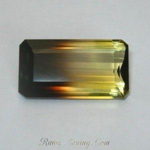 Rectangular Bi Color Quartz 35.42 carat