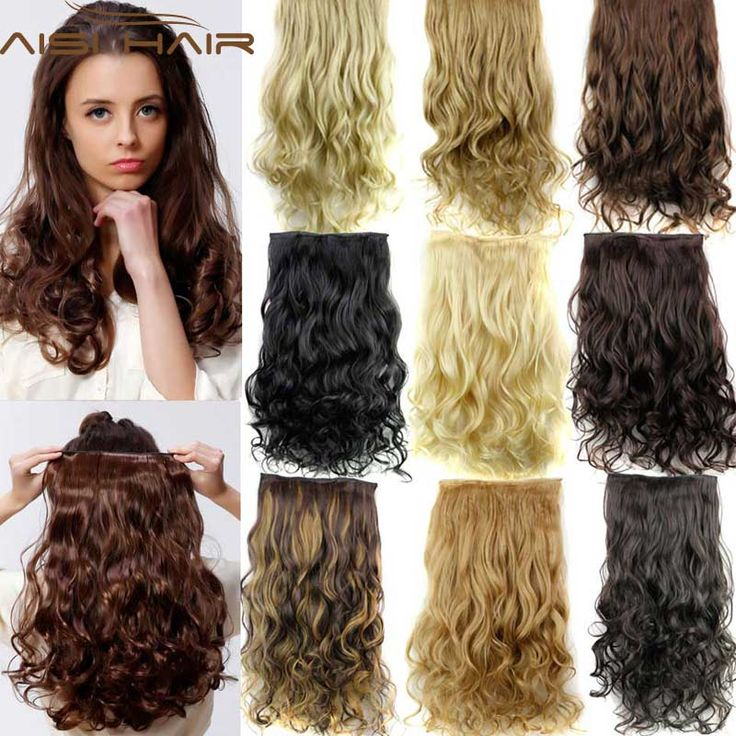 Best 25 clip in hair extensions ideas on pinterest extensions hairpiece 24inch 60cm 120g curly wavy hair extension synthetic clip in hair extensions heat resistant multicolor pmusecretfo Gallery