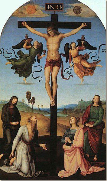 Crocefissione, obra de Raffaello Sanzio da Urbino -Raphael
