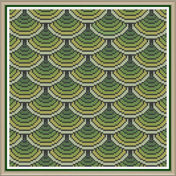 Geometric 11 Swoops Counted Cross Stitch by HornswoggleStore