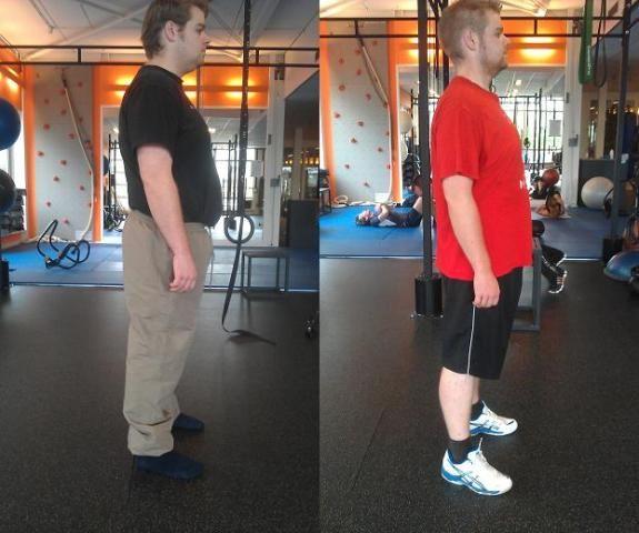Het succesverhaal van Jesse van den Bovenkamp! Resultaat in 16 weken: Gewicht van 117 kg naar 92 kg en zijn vetpercentage is afgenomen van 31,5% naar 18,5%.