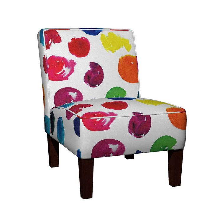Maran Slipper Chair featuring Polkadot Watercolour Abstract by jessmorris | Roostery Home Decor