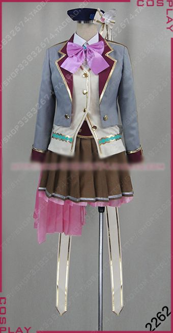 Colopl RUNE STORY Ekuseria Cosplay Costume Halloween Uniform Outfit Shirt+Vest+Coat+Skirt+Hat+Socks Custom-made