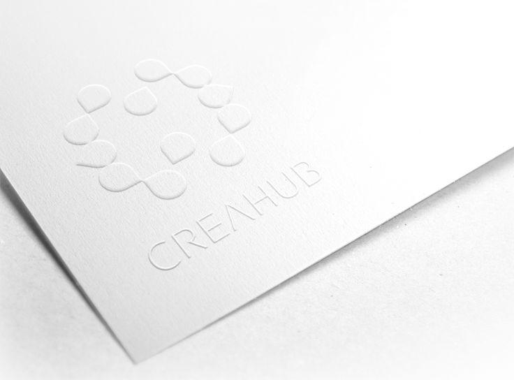 creahub card_Embossed Paper Logo MockUp