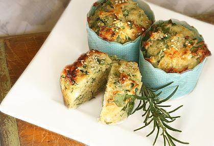 Przepis na muffinki ze szpinakiem i serem feta | WINIARY