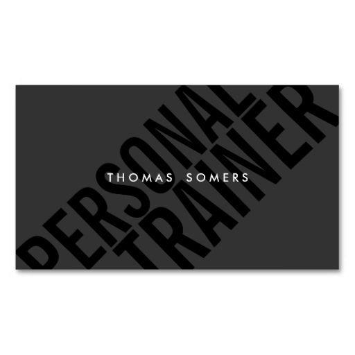 Cool Bold BLack Typography Personal Traineer Business Card Templates | Zazzle