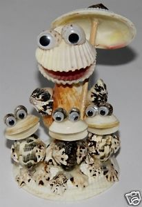 sea shell Kermit funny funky statue decor shells sculpture FIGURINE 1 pcs new  | eBay