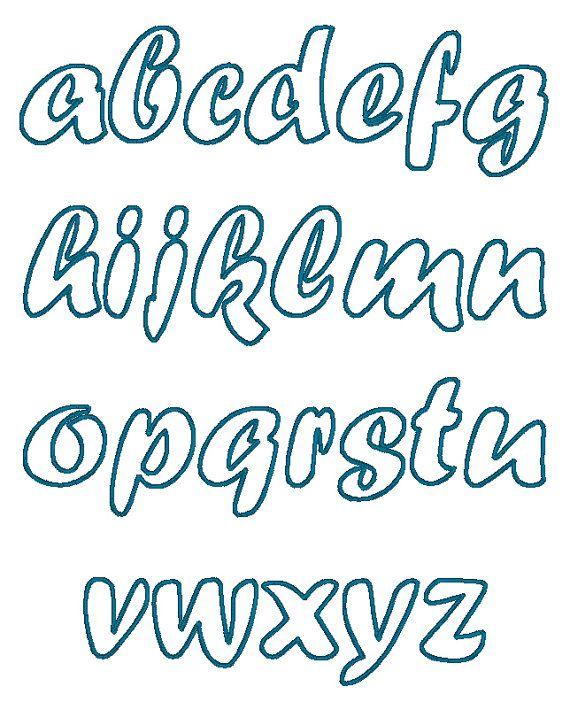 Handwriting cute font machine embroidery applique designs
