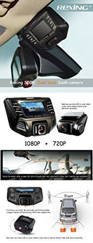 REXING S500 Pro 1080P Wide Angle Super Night View Mode Dash Cam for Cars with 32GB MicroSD Card | Best Dashboard Camera