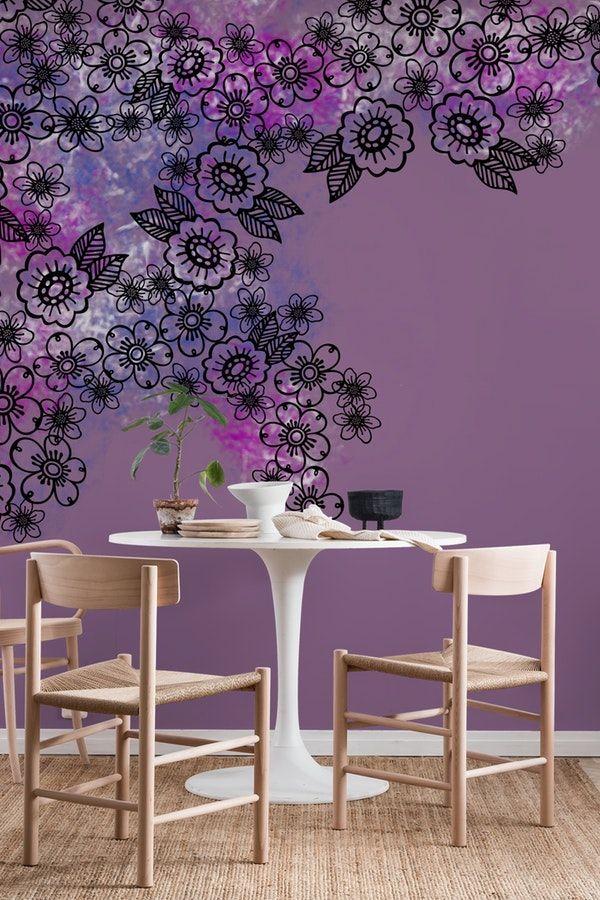 Purple Flowers Wallpaper Purple Flowers Wallpaper Purple Walls Purple Flowers