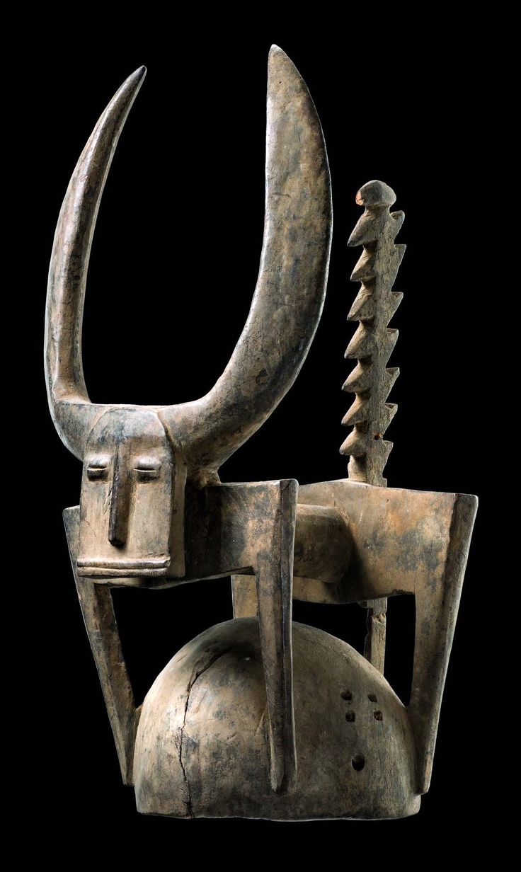 "Africa | Dance crest ""dagu"" from the Senufo people of the Ivory Coast 