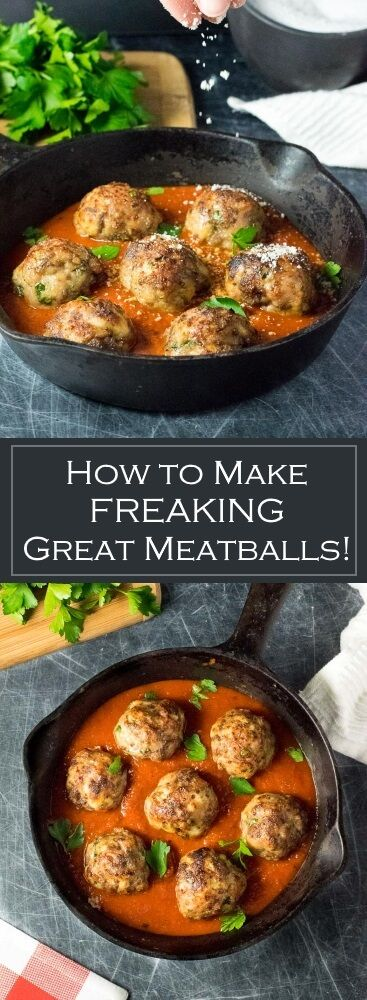 How to Make Great Meatballs recipe via @foxvalleyfoodie