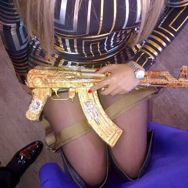 Las armas del sicario. Foto: Especial