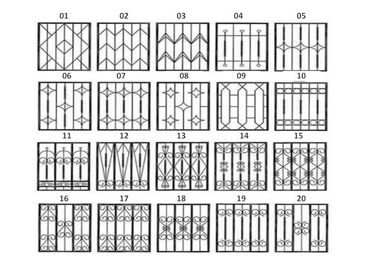 Las 25 mejores ideas sobre rejas para puertas en - Rejas de diseno moderno ...