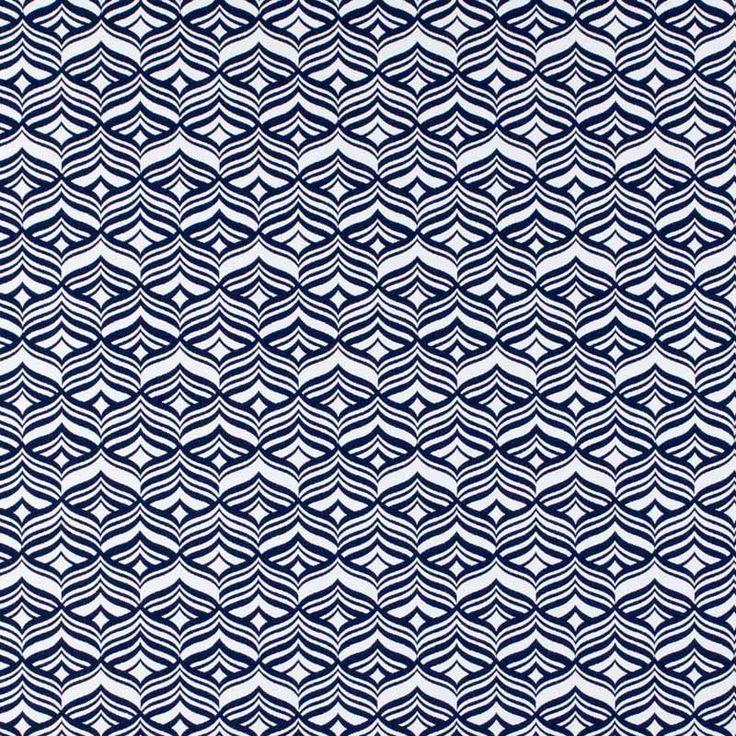 Warwick Fabrics : AVOCA, Colour MARINE