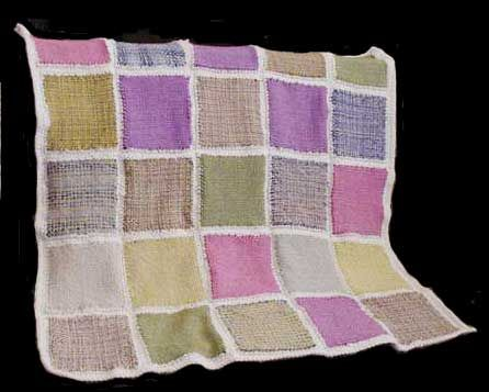 Free Weaving Pattern Country Style Afghan Made On An 8