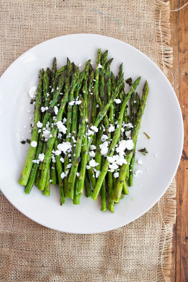 Jackie Cooks: Roasted Asparagus with Thyme and Feta: Jackie Cooking, Cooking Engine, Thyme Recipe, Social Cooking, Springtim Simplicity, Posts, Made, Healthier Recipe, Roasted Asparagus
