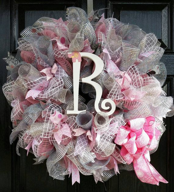 Hey, I found this really awesome Etsy listing at https://www.etsy.com/listing/221338091/large-mesh-ribbon-wreath-baby-girl