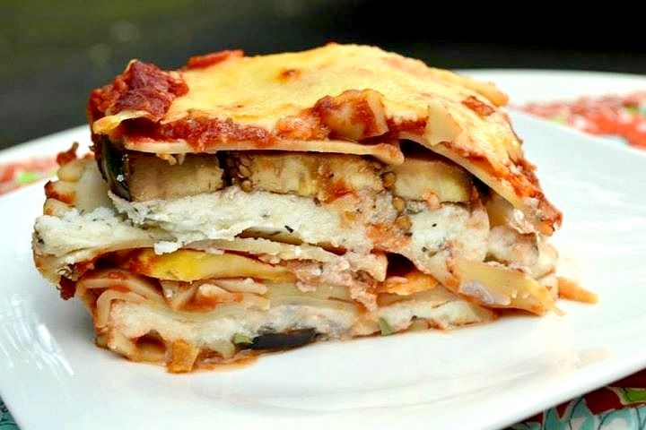 Veggie Lasagna by nutritionforus as adapted from cookinglight  #Lasagna #Veggie #Light