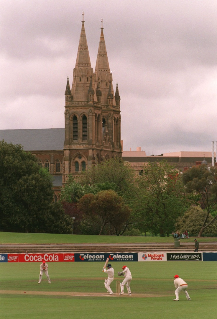 November 5, 1994 - The St. Peter's Cathedral which overlooks the Adelaide Oval. Credit: Graham Chadwick/ALLSPORT