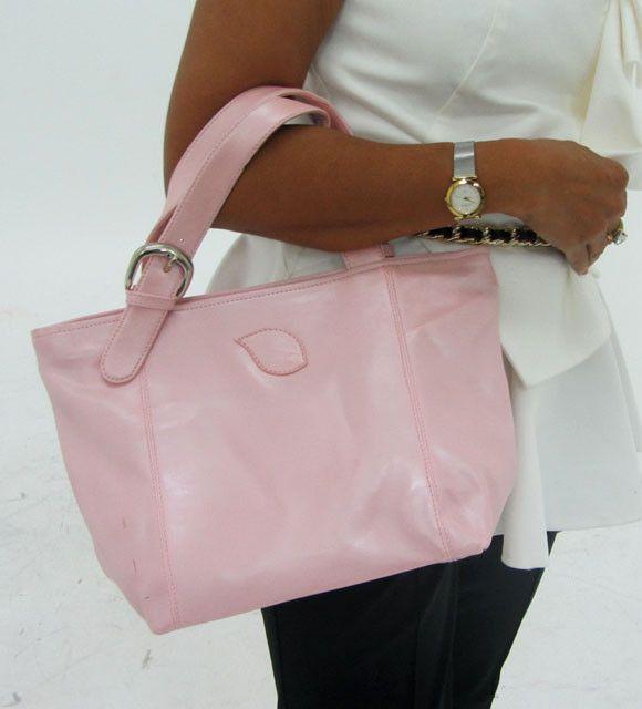 Leather Like Pink Shoulder Bag OP 57