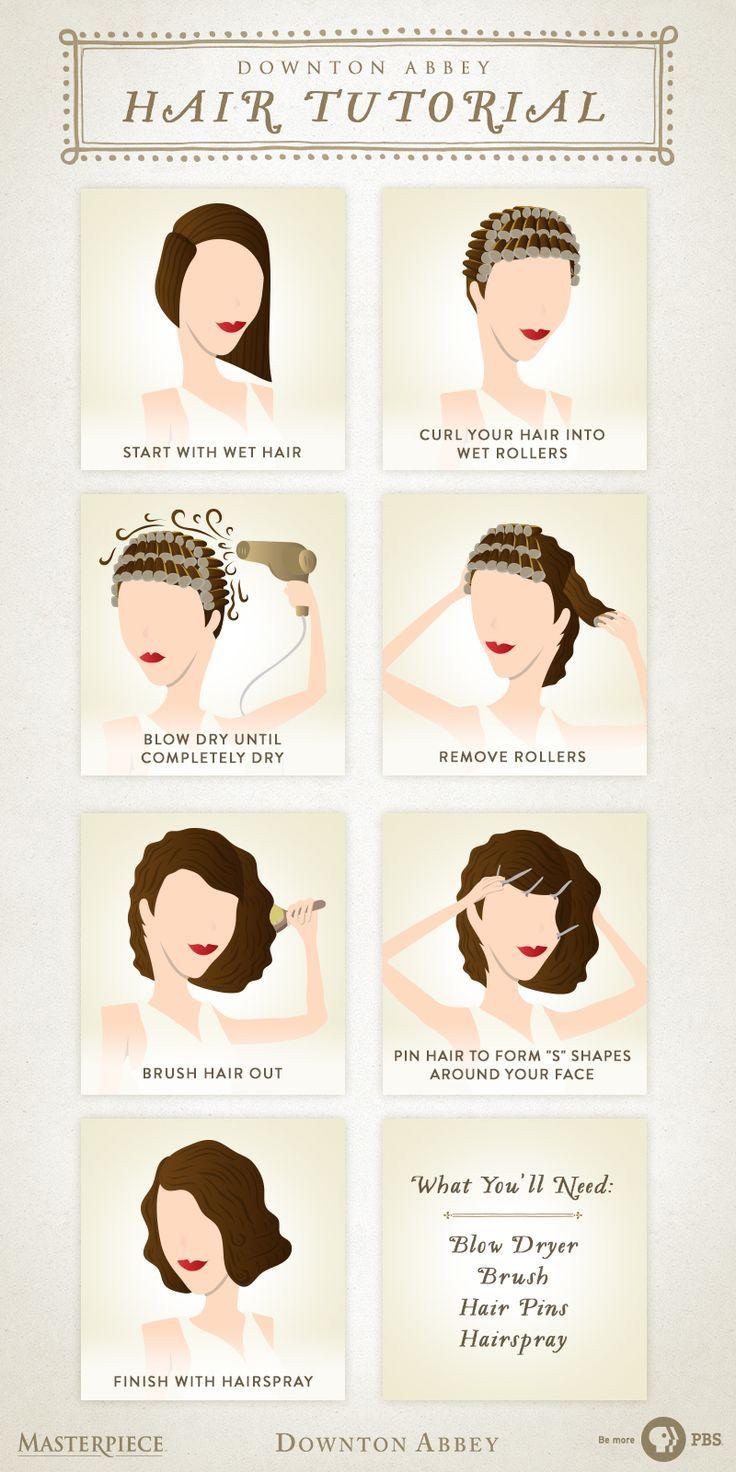 Sie passen genau zu den Frauen von Downton Abbey. Befolgen Sie dieses einfache Haar-Tutorial, um Ihre ganz persönliche Vintage-Frisur aus den 1920er Jahren zu erstellen. Alles was du brauchst ich