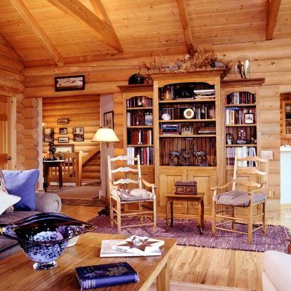 Log Home Interior With Swedish Cope Profile InteriorsEstes ParkLogs