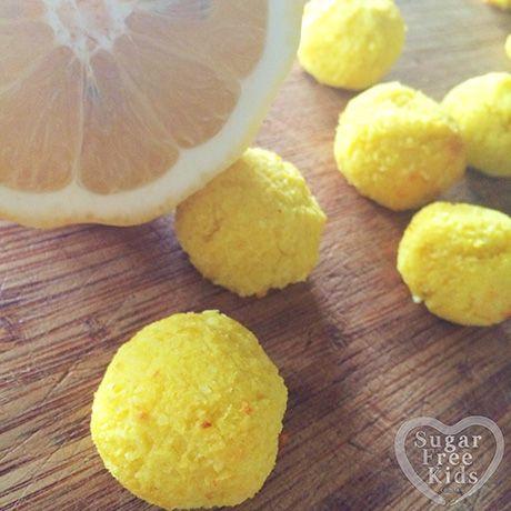 Sugar Free Lemon Coconut Macaroon recipe - Sugar Free Kids