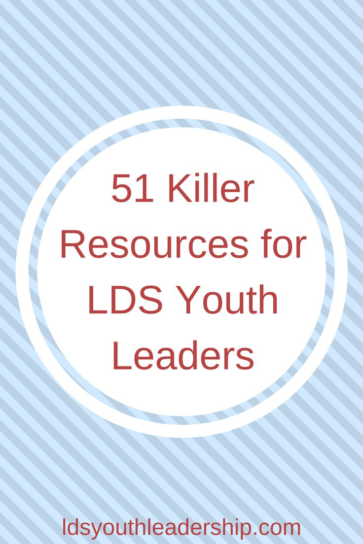 The best list of resources for LDS young women and young men leaders ever! I love this site!