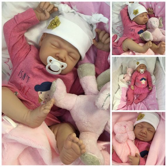 Reborn baby doll girl Amber big newborn 22 size by CherishDollsLtd