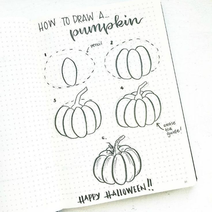 Halloween inspirierte Bullet-Journal-Spreads, Doodle-Tutorial von @bonjournal_