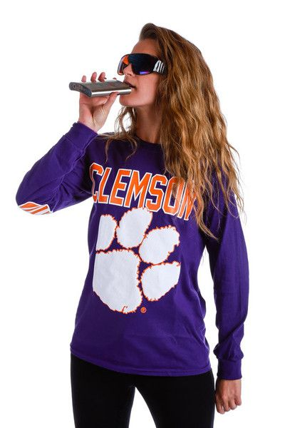 Clemson Tigers Long Sleeve Shirt | Get your vintage and vintage-inspired college gear - and all manner of outrageous threads - at Shinesty.com