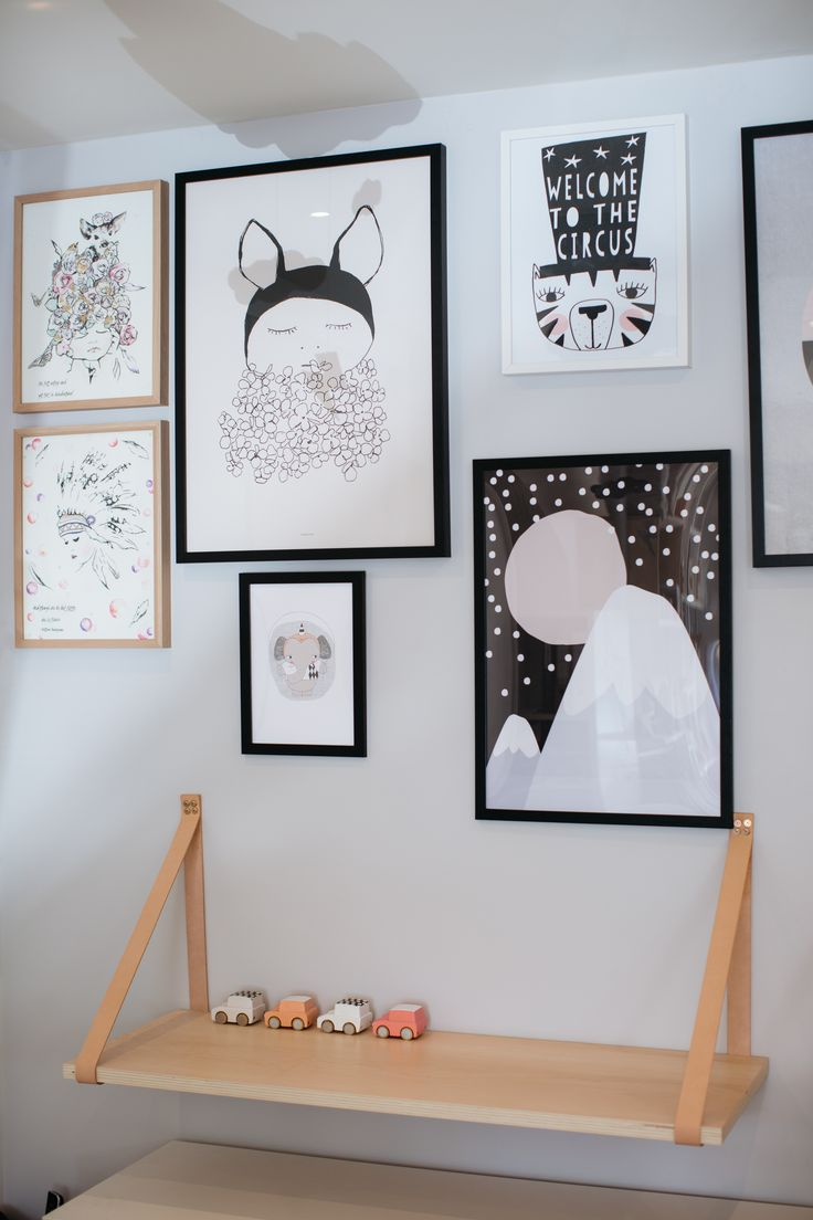 A variety of prints and artwork on display instore and available to purchse online