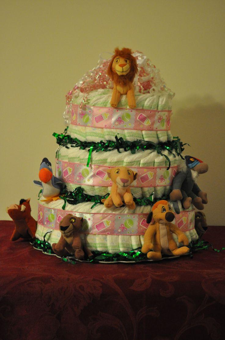 Diaper Cake Lion King Baby Shower Lion King